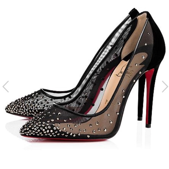 17bae724e2c2 NEW • Christian Louboutin • Pigalle Follies Strass